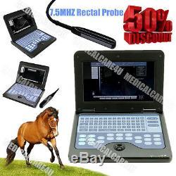 CE 10.1 Inch Veterinary VET Laptop Ultrasound Scanner Diagnostic Machine RECTAL