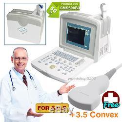 CE CMS600B3 Full Digital Portable Ultrasound Scanner Machine, 3.5M Convex Probe