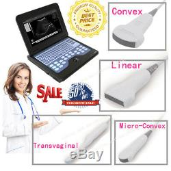 CE CMS600P2 Digital Portable Ultrasound Scanner B Ultrasonic Machine+Two Probes