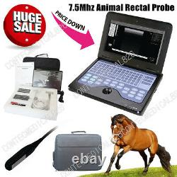 CE CMS600P2 VET Ultrasound Scanner Veterinary Laptop Machine with 7.5Mhz Rectal