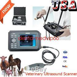 CE Useful Digital Handheld Veterinary VET Ultrasound Scanner Machine+Accessories