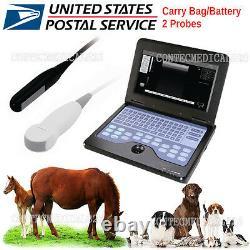 CMS600P2-VET Veterinary Ultrasound Scanner Laptop Machine+Rectal+Micro Convex, US