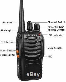 Digital Handheld Radio Scanner Two Way Police Ham Transceiver (set of 4)