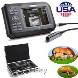Digital Handheld Ultrasound Scanner Machine Animal Rectal Probe Veterinary USA