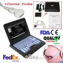FDA&CE CONTEC CMS600P2 Portable Ultrasound Scanner Digital Laptop Machine, Convex