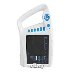 Medical Handheld 7 LCD Digital Palmtop Ultrasound Scanner+Convex Linear Probe