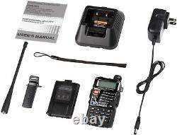 Police Radio Scanner Handheld Digital LED Transceiver Two Way Portable Antenna