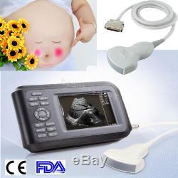 Portable Handheld Digital Ultrasound Scanner Machine + 3.5mhz Convex Probe human
