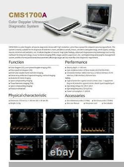 Portable High Resolution Color Doppler Ultrasound Scanner with Convex Probe New