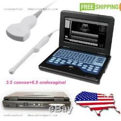 Portable Laptop Digital Ultrasound Scanner 3.5 Convex+ 6.5 Transvaginal 2 probes