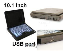 Portable Veterinary Ultrasound Scanner VET machine with 7.5M Rectal probe FDA CE