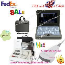 Portable laptop Machine Digital Ultrasound scanner, Convex probe 3.5MHZ US Seller