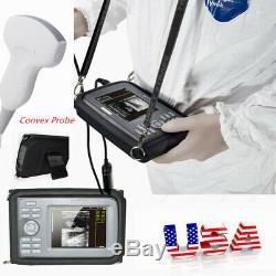Pro Digital Ultrasound Scanner+Convex Probe Pregnancy Handheld Monitor Machine