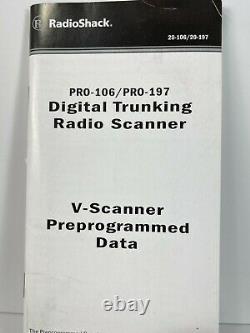 Radio Shack PRO-106 Handheld Radio Scanner-Digital Trunking