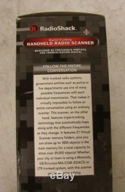 RadioShack PRO-106 Digital Trunking Handheld Radio Police Scanner 20-106