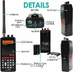 Scanner Digital Whistler WS1010 Emergency Alert Weather Fire FM Radio Handheld