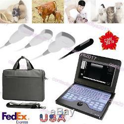 USA VET/Veterinary Laptop Ultrasound machine/Scanner+3 Probes CMS600P2 CONTEC US