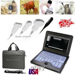 USA fedex, Vet Veterinary portable Ultrasound Scanner 2 probes big/small animals