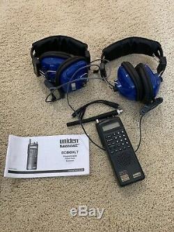 Uniden BC80XLT Digital Handheld Scanner and Headsets NASCAR