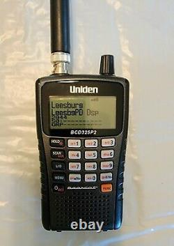 Uniden BCD325P2 Handheld Phase 2 Digital Police Scanner WithRechargeable batteries