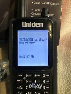 Uniden BCD436HP Digital Handheld Scanner With DMR Option Installed