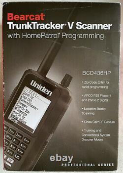 Uniden BCD436HP HomePatrol Series Digital Handheld Scanner, Simple Programming