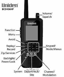 Uniden BCD436HP HomePatrol Series Digital Handheld Scanner. TrunkTracker V Si