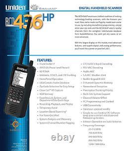 Uniden BCD436HP HomePatrol Series Digital Handheld Scanner. TrunkTracker V, USA
