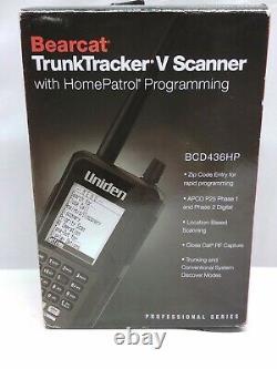 Uniden BCD436HP HomePatrol Series Digital Handheld Scanner used