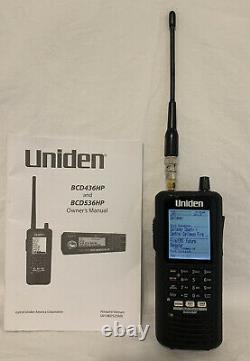 Uniden BCD436HP Trunktracker V Scanner Home Patrol Digital Handheld Police EMT