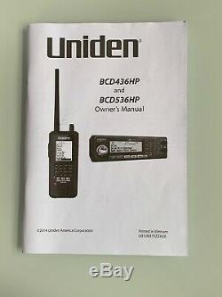 Uniden Bearcat BCD436HP HomePatrol Digital Handheld Scanner WITH EXTRAS