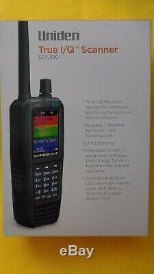 Uniden SDS100 Digital APCO Deluxe Trunking Handheld Scanner True I/Q NEW