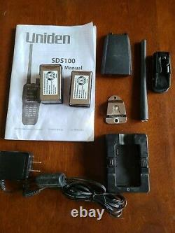Uniden SDS100 Digital APCO Deluxe Trunking Handheld Scanner, provoice/DMR /NXDN