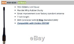Uniden SDS100 True I/Q Digital Handheld Scanner APCO P25 DMR Upgraded Antenna