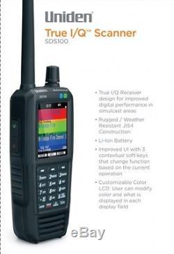 Uniden SDS100 V2 Handheld Digital Police Scanner Trunking SDR APCO P25 DMR NXDN