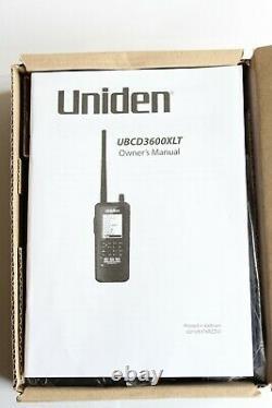 Uniden UBCD3600XLT Digital Handheld Scanning Receiver Radio VHF UHF DMR