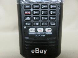Uniden bcd436hp handheld digital police scanner trunking p-25 phase 1 & 2 tdma