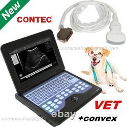 VET Ultrasound Scanner Portable laptop Machine Digital 3.5 Convex Probe Animals
