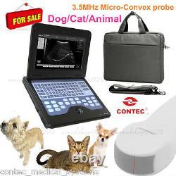 VET Veterinary Ultrasound Scanner Dog/Cat Medical Machine w Micro-Convex Probe