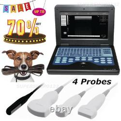 Veterinary 4 animal probes Portable Notebook Laptop VET Ultrasound Scanner CE