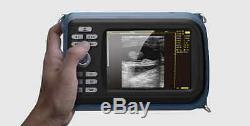 Veterinary Handheld Digital Ultrasonic Scanner+Convex Probe AnimalCare Tool+Gift