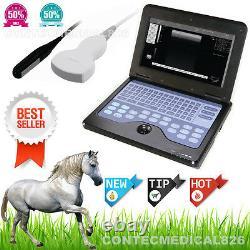 Veterinary Laptop Ultrasound Machines Ultrasound Scanner+Rectal+Convex, 2 probes