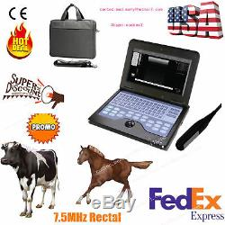 Veterinary Ultrasound Scanner Laptop Machine 7.5Mhz Rectal, bovine & equine, hot
