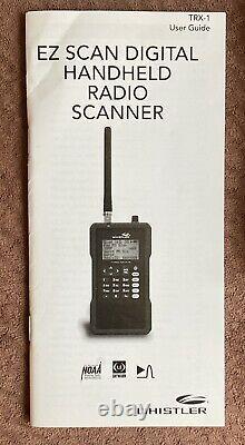 Whistler TRX-1 Digital Handheld Scanner Radio EZ Scan Police EMS Fire Portable