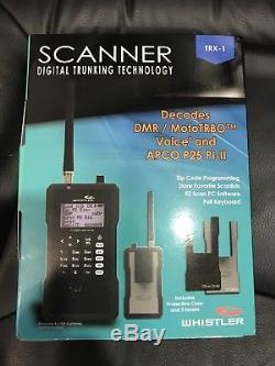 Whistler TRX-1 Digital Scanner Radio Handheld Trunking New In Box