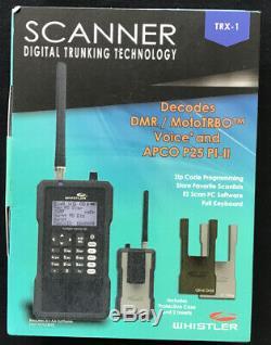 Whistler Trx-1 Digital Analog Police Scanner Handheld