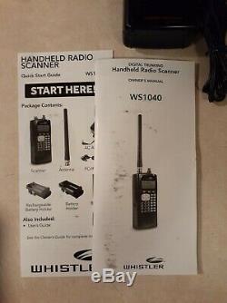 Whistler WS1040 Digital Handheld Scanner Black (Good Condition) No Antenna