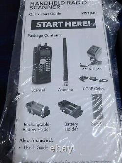Whistler WS1040 Digital Handheld UHF/VHF Police Scanner Portable Fire Safety