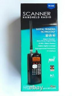 Whistler WS1040 Digital Scanner Handheld Radio Trunking Technology New