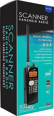 Whistler WS1040 Handheld Pocket Storm Trunking Digital Scanner Radio Black